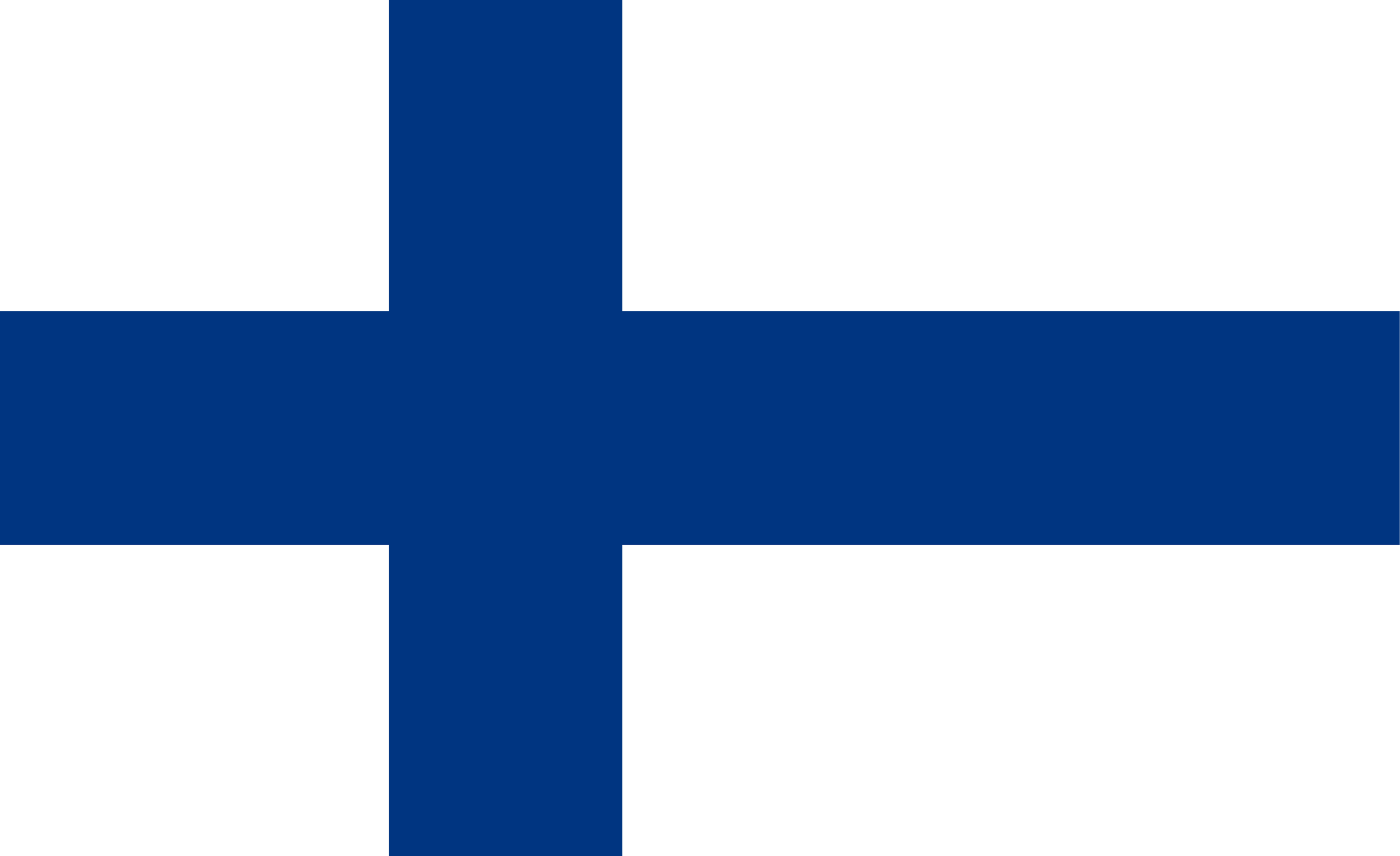 The National Flag of Finland features a white background with a blue cross that extends to the edges of the flag.