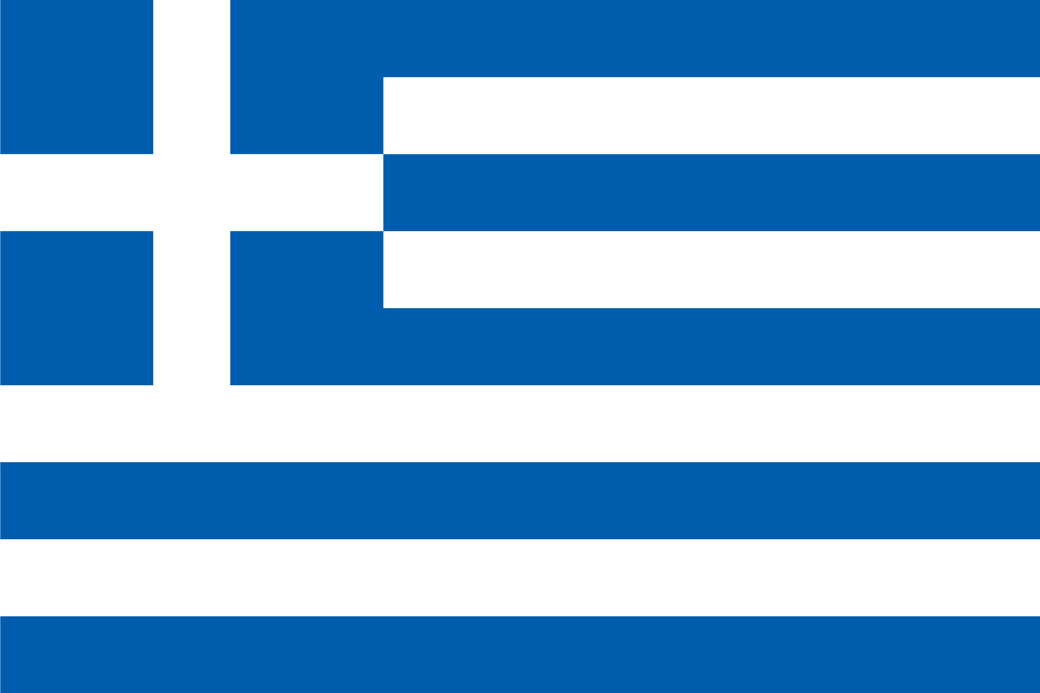 The flag of Greece consists of nine alternating stripes of blue and white and a canton on the upper hoist side