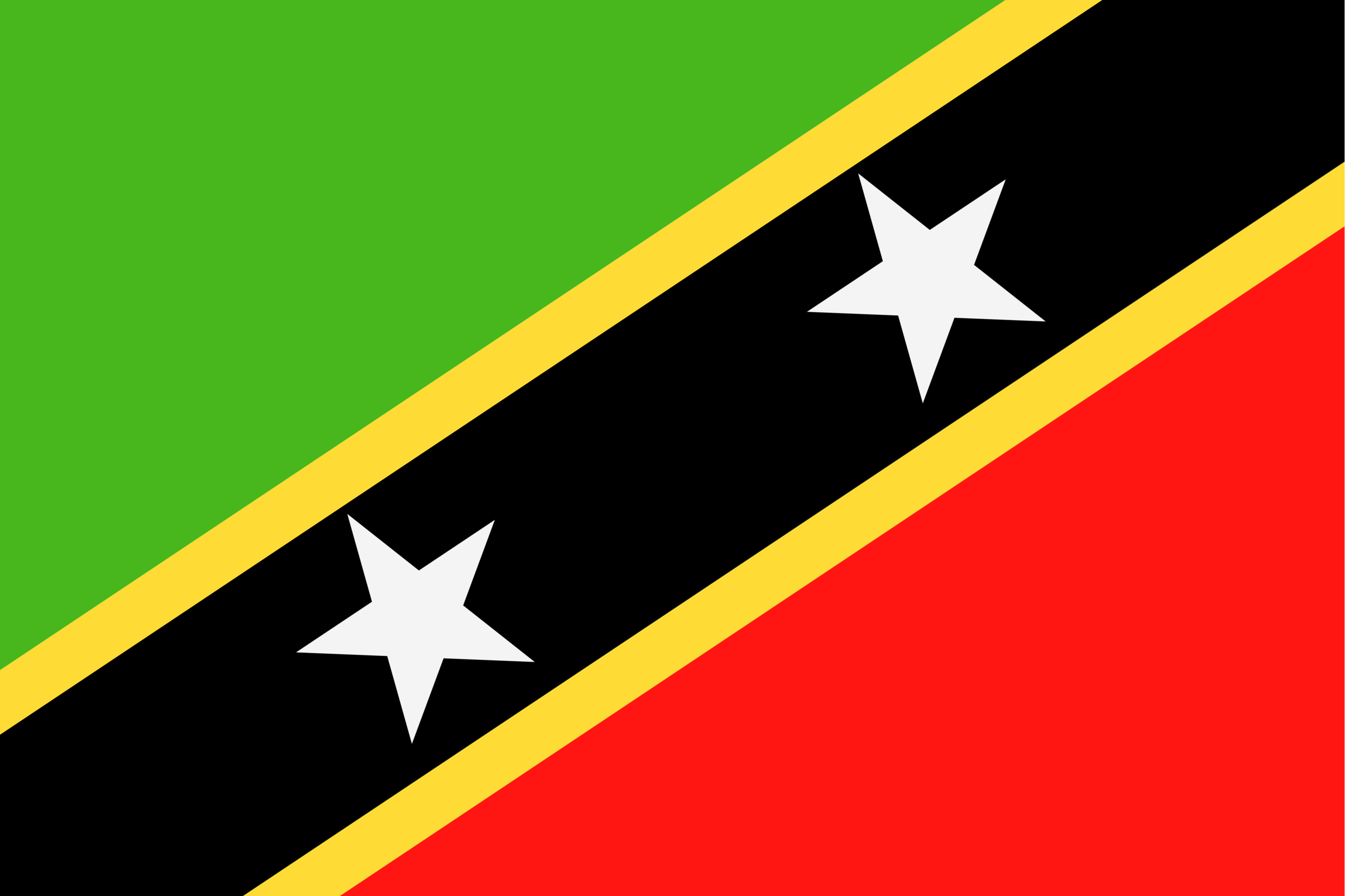 The two stars of the flag symbolize the two islands of Saint Christopher and Nevis.