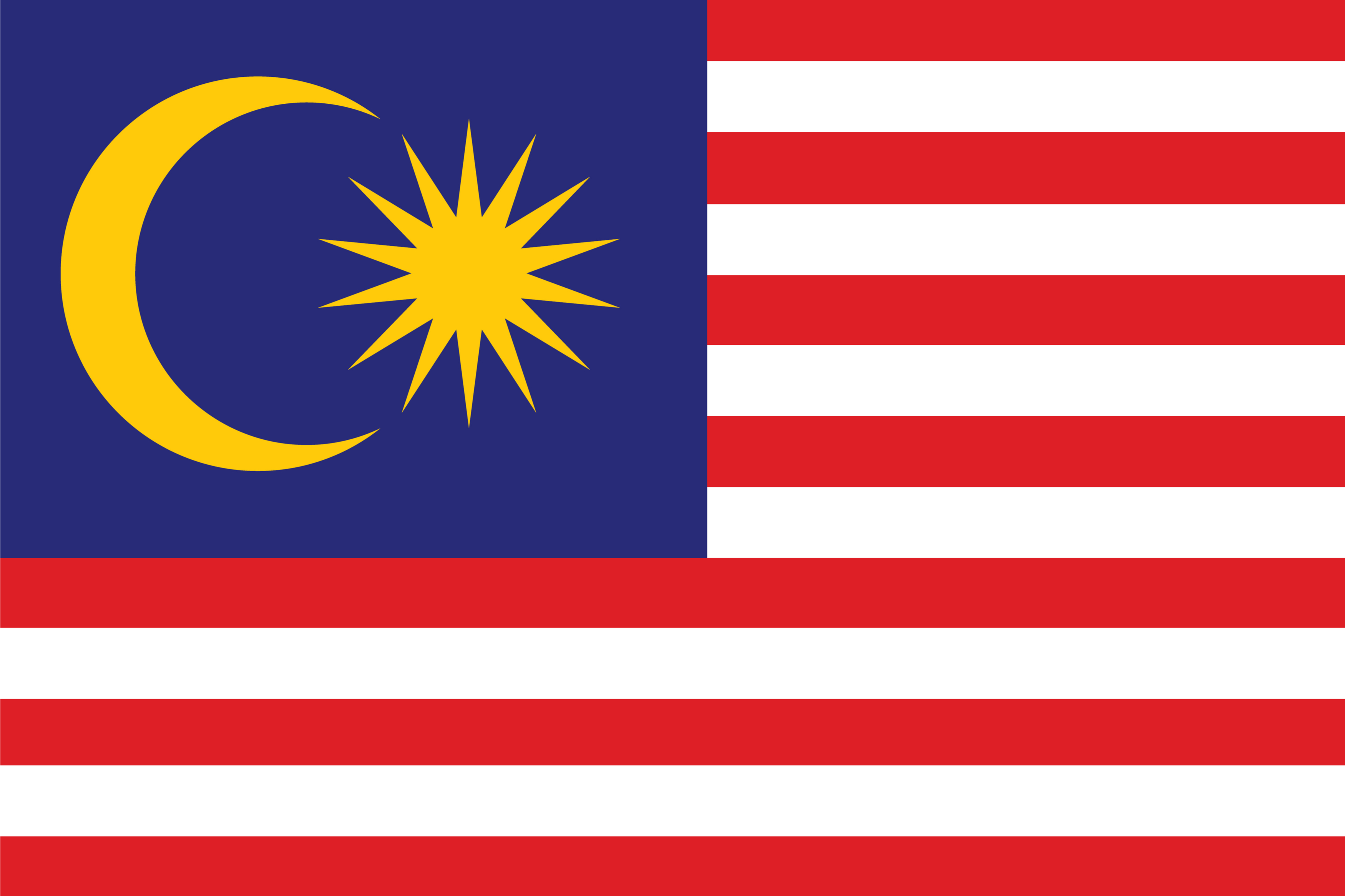 The official flag of Malaysia.