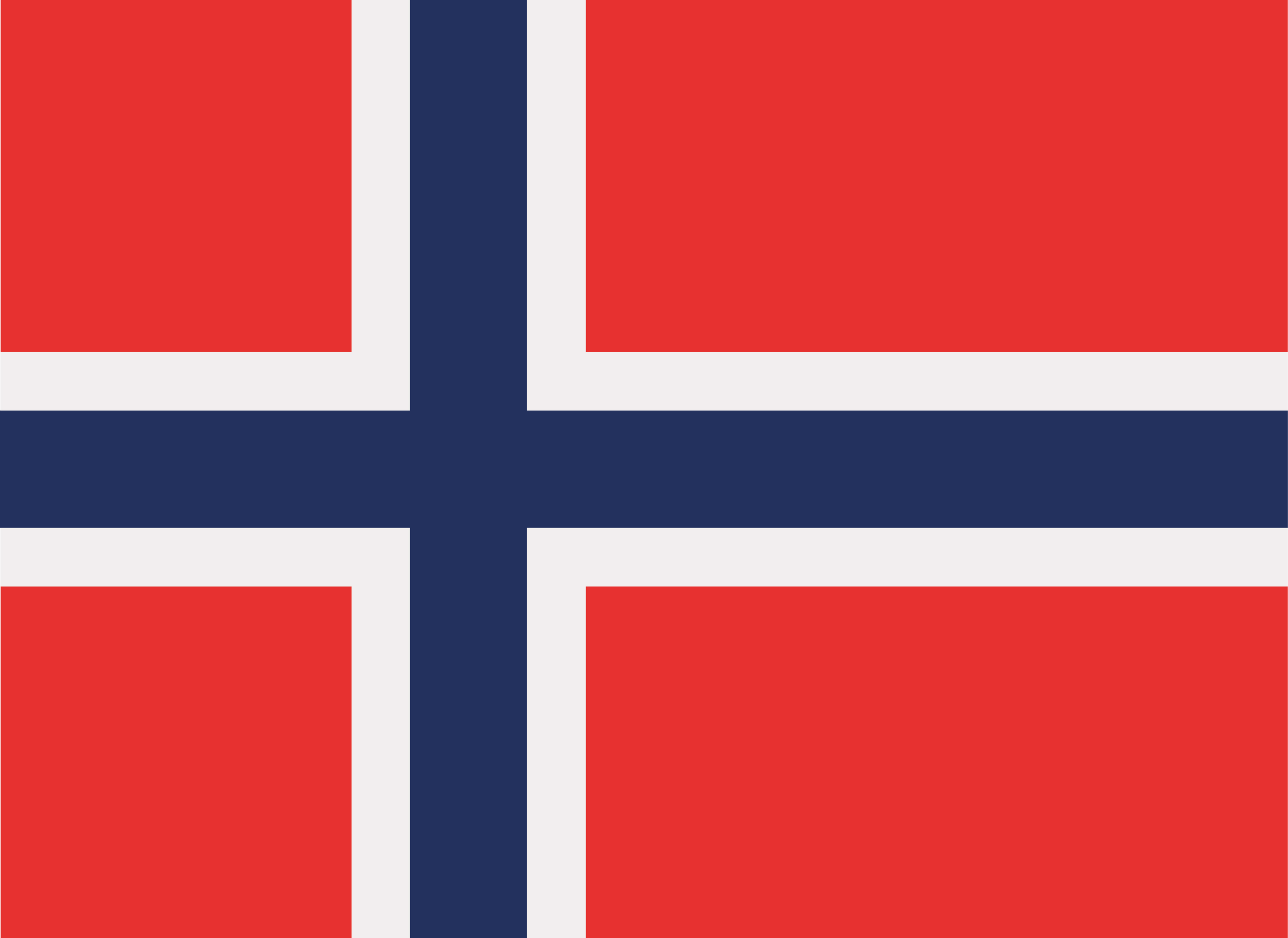 The official flag of Norway.