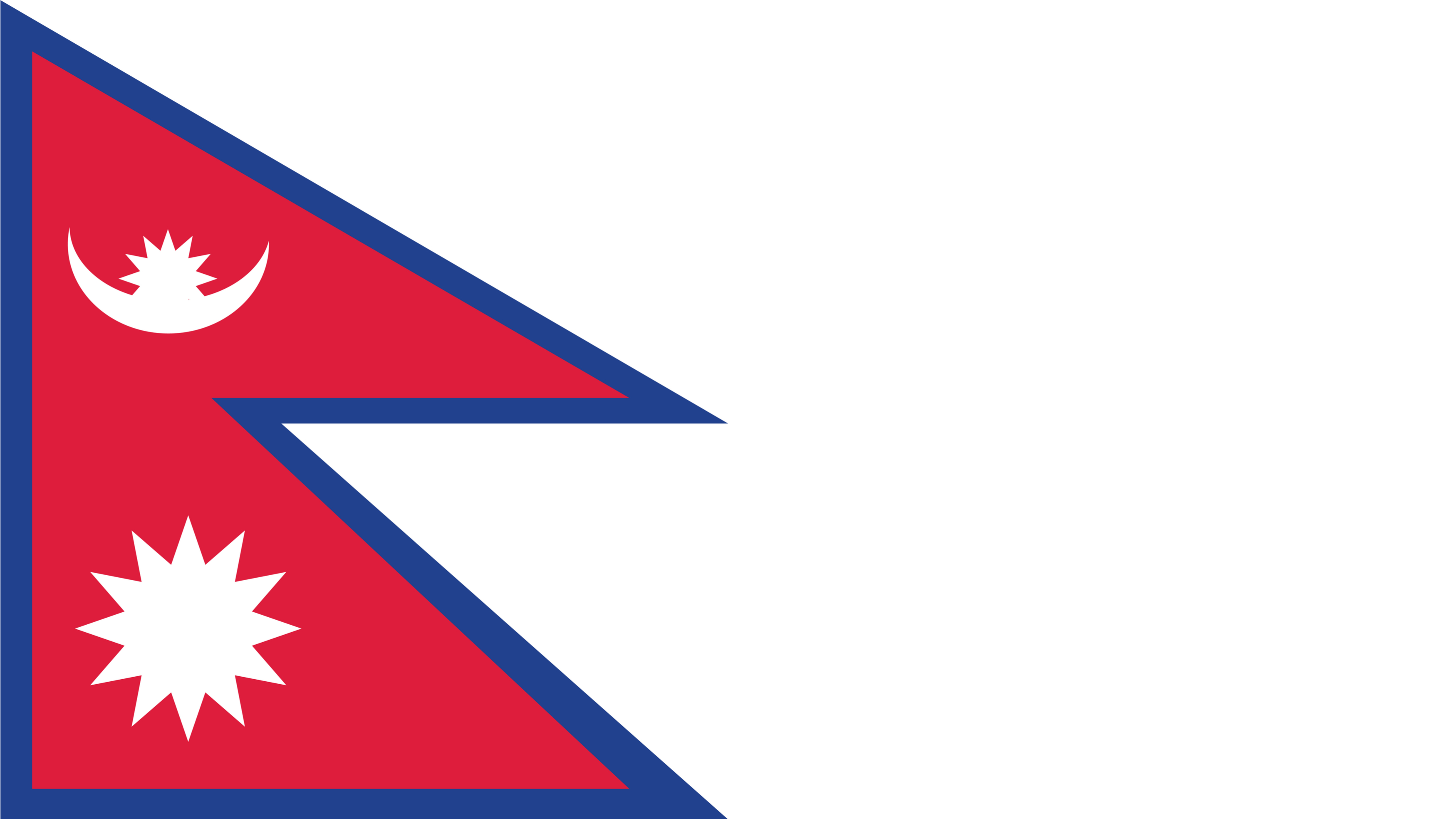 The flag of Nepal is not rectangular.