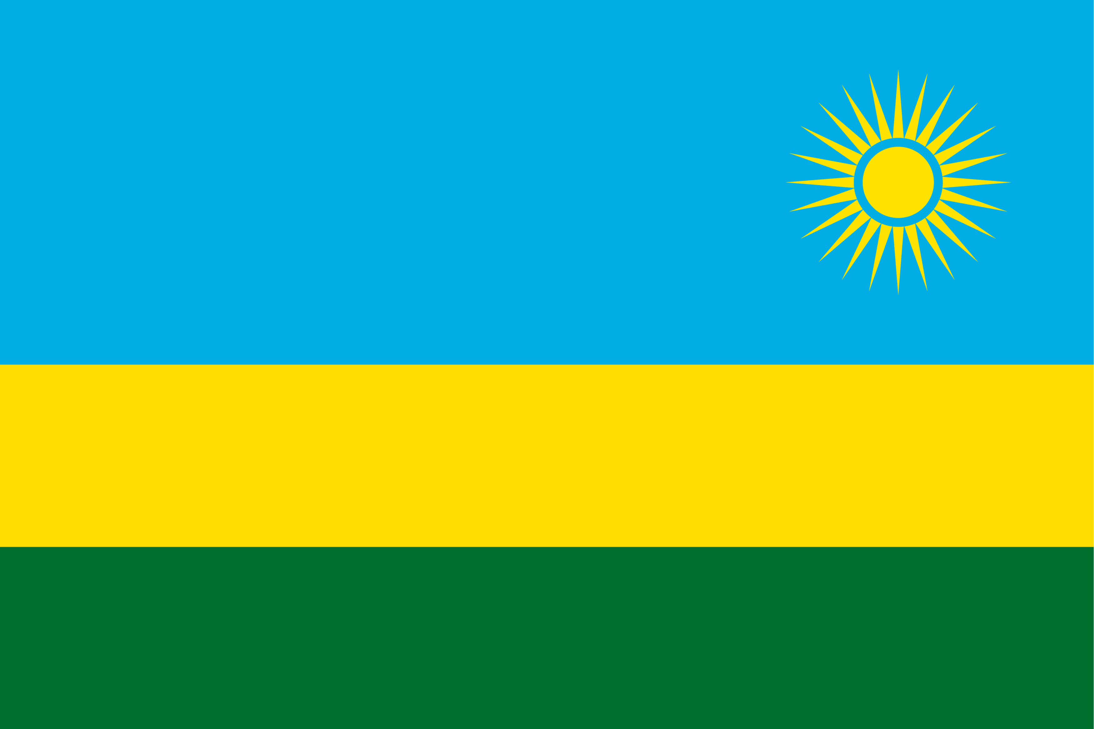 The flag of Rwanda.