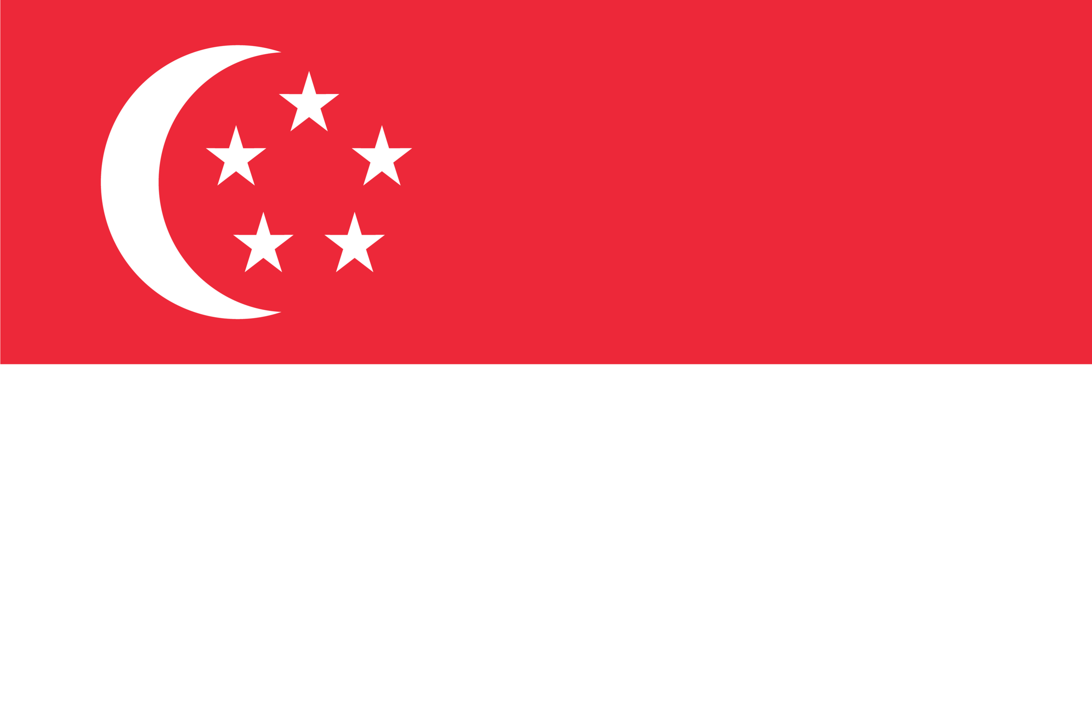 The flag of Singapore.