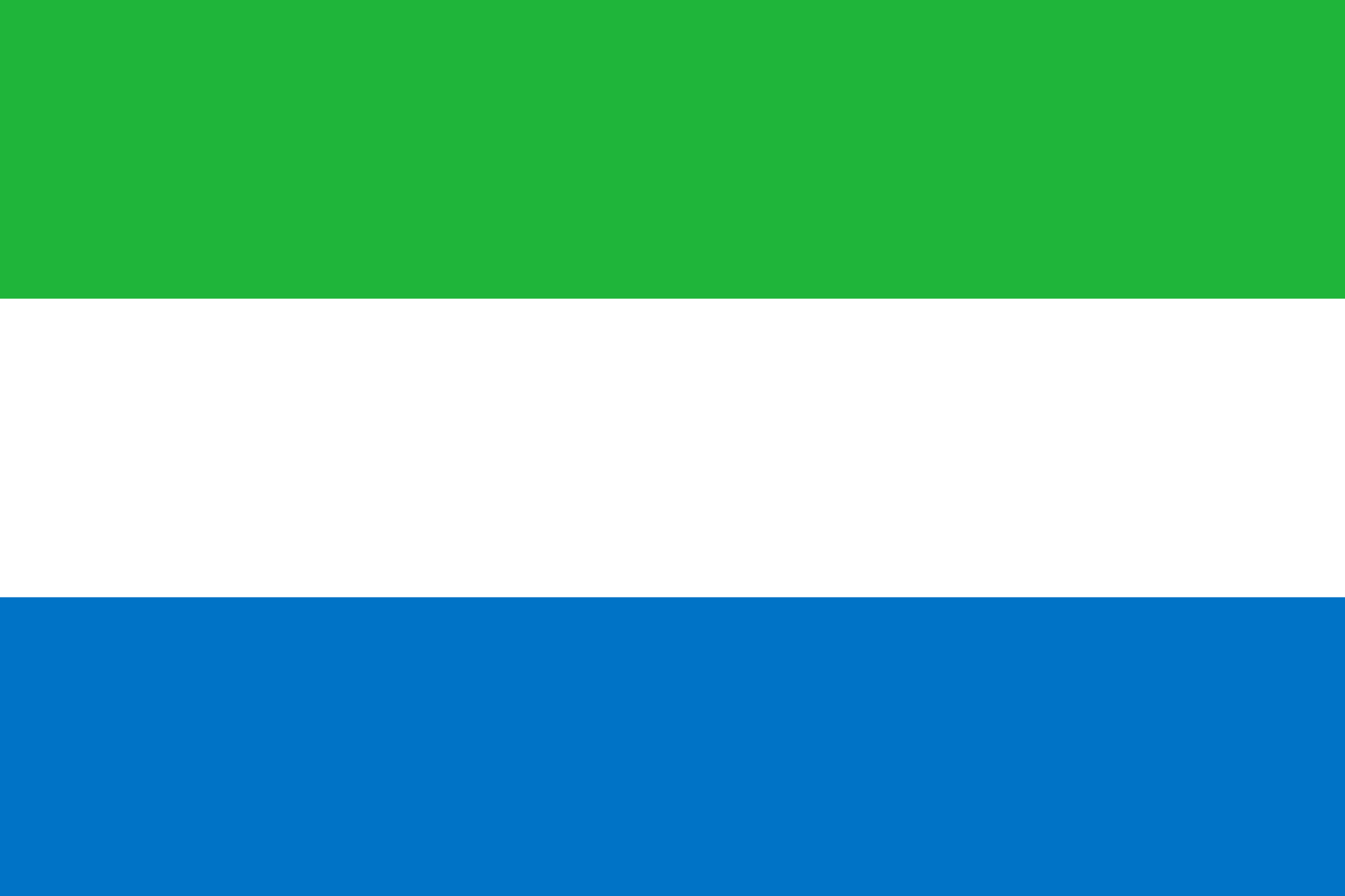 The flag of Sierra Leone.