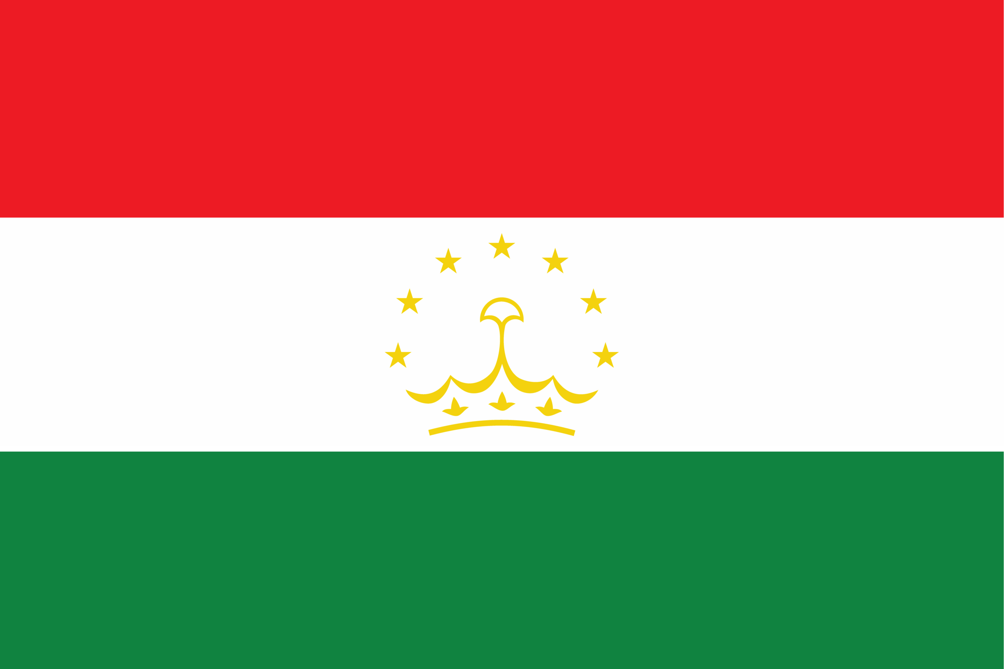 The flag of Tajikistan.