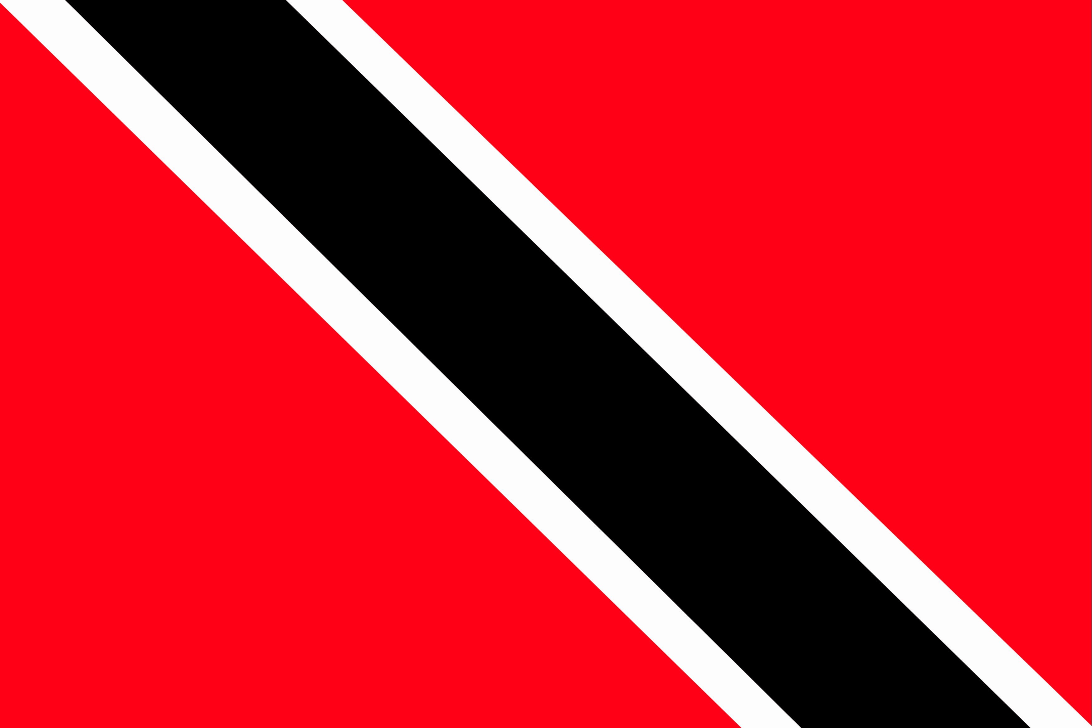 The flag of Trinidad and Tobago hanging in the sky.