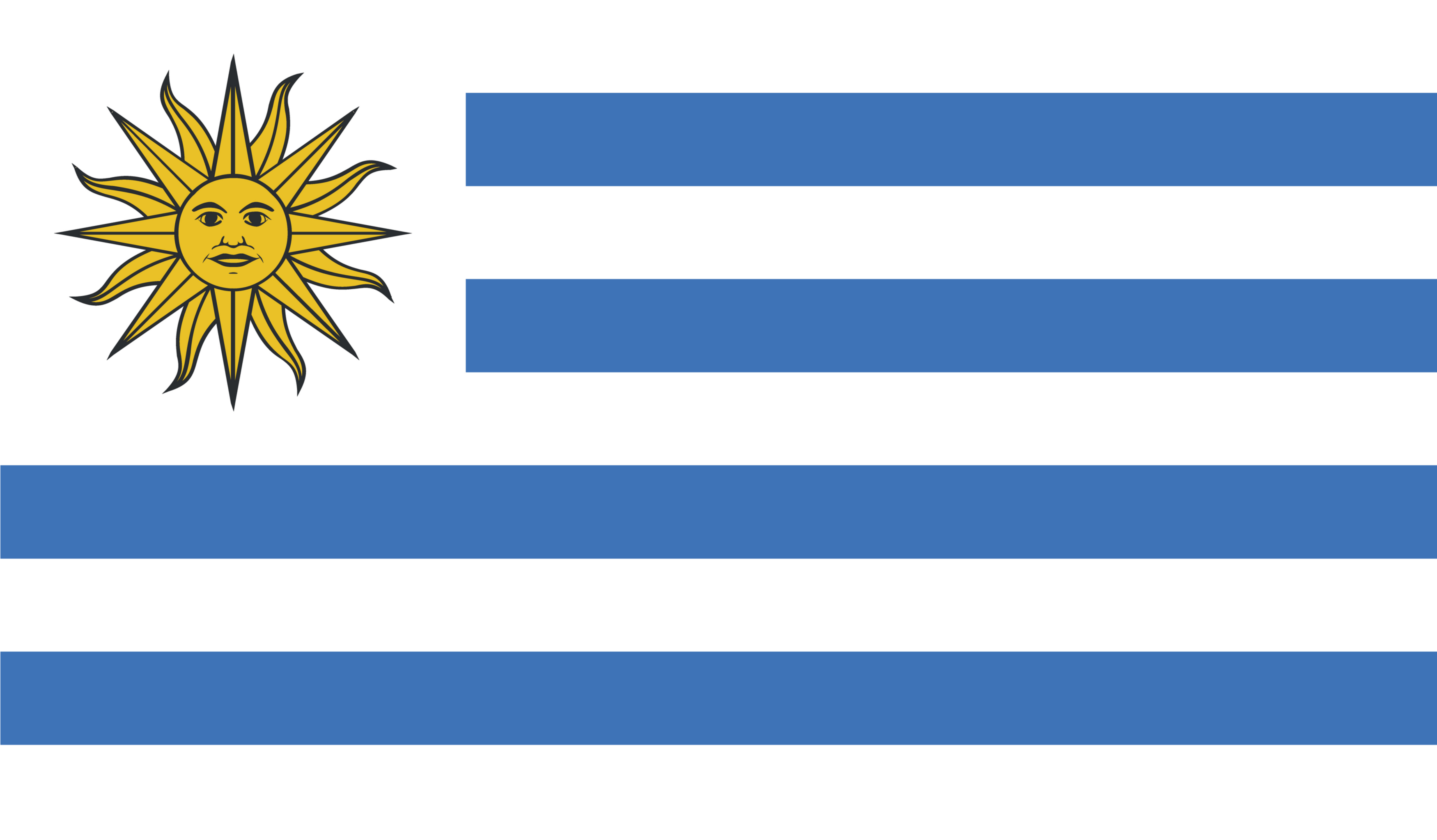 The current flag of Uruguay.