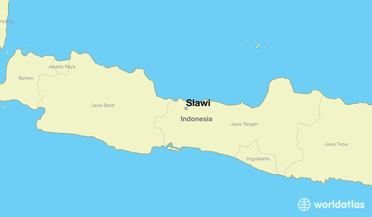 map showing the location of Slawi