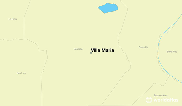 map showing the location of Villa Maria