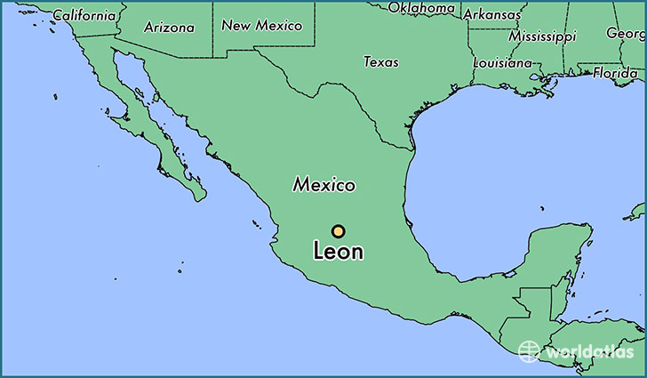 Where is leon mexico leon guanajuato map worldatlas map showing the location of leon gumiabroncs Image collections