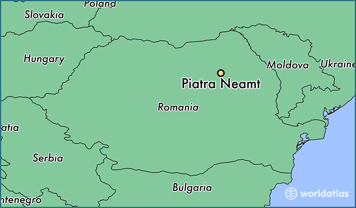 map showing the location of Piatra Neamt