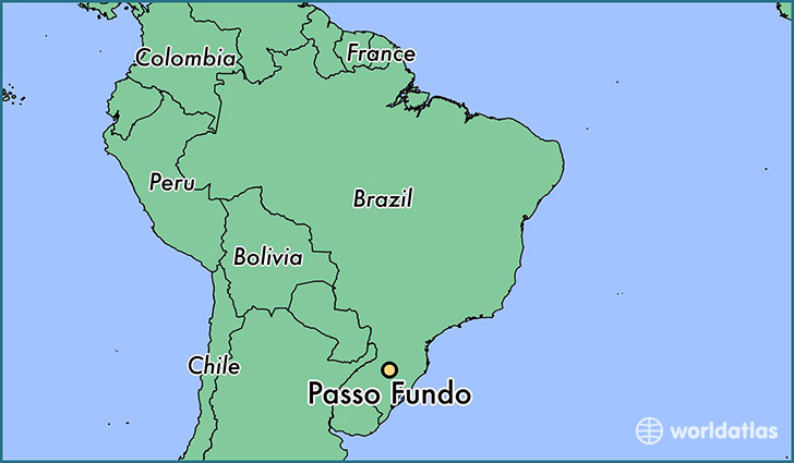 map showing the location of Passo Fundo