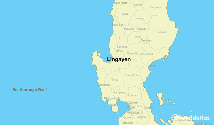 map showing the location of Lingayen