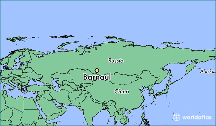 map showing the location of Barnaul