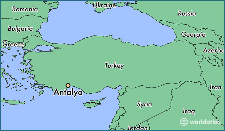 Where is antalya turkey antalya antalya map worldatlas map showing the location of antalya gumiabroncs Image collections