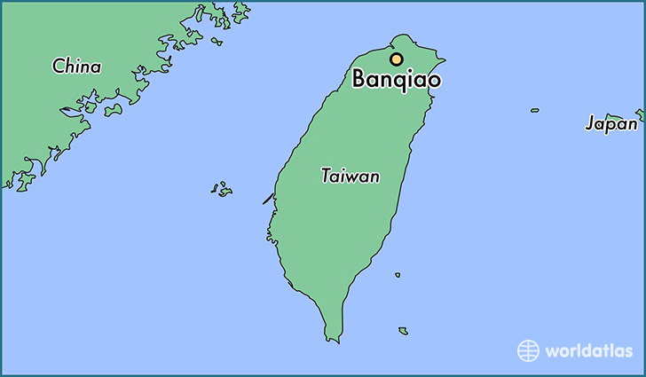 map showing the location of Banqiao