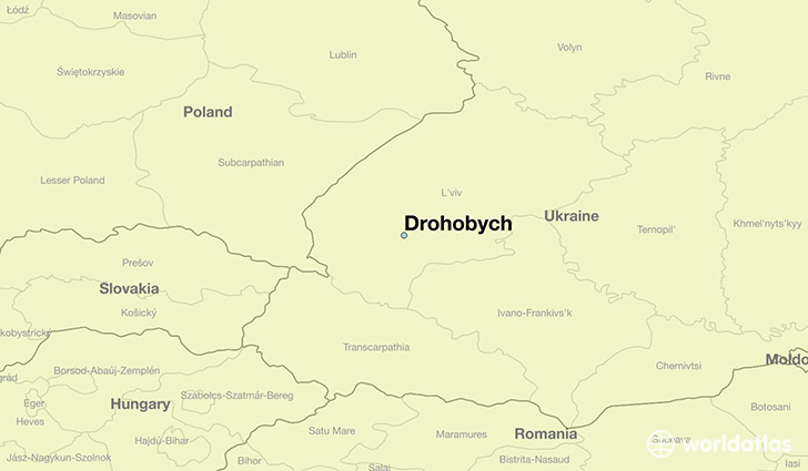 map showing the location of Drohobych