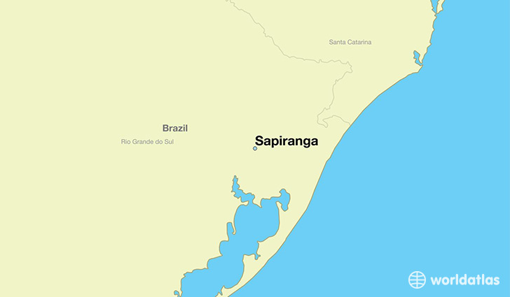 map showing the location of Sapiranga