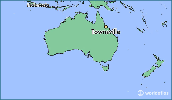 map showing the location of Townsville