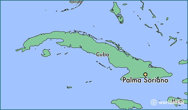 map showing the location of Palma Soriano