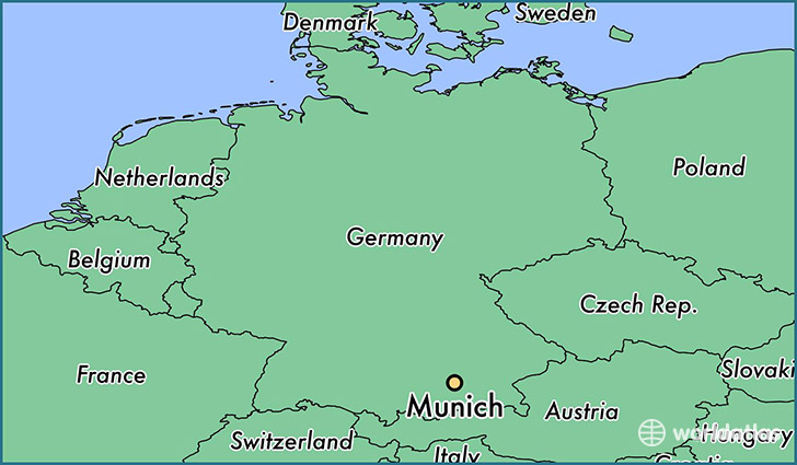 Where is Munich, Germany? / Munich, Bavaria Map - WorldAtlas.com