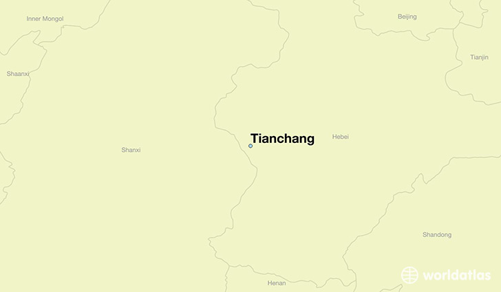 map showing the location of Tianchang