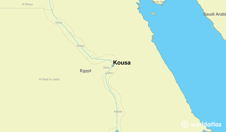 map showing the location of Kousa