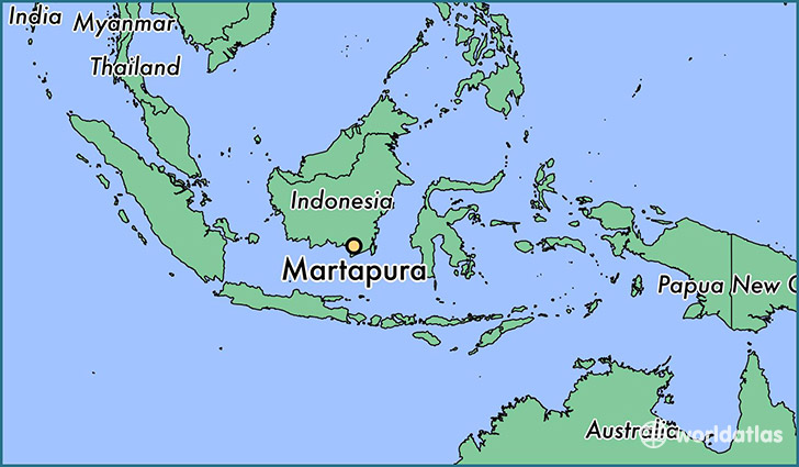 map showing the location of Martapura