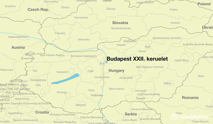 map showing the location of Budapest XXII. keruelet
