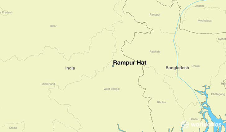 map showing the location of Rampur Hat