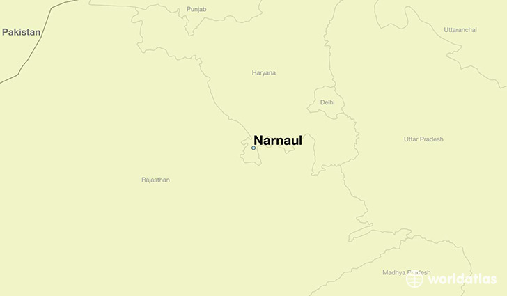 map showing the location of Narnaul