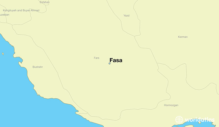 map showing the location of Fasa