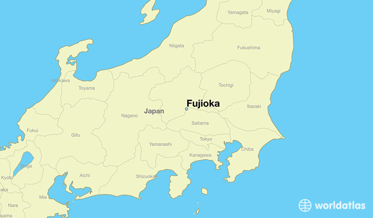 map showing the location of Fujioka