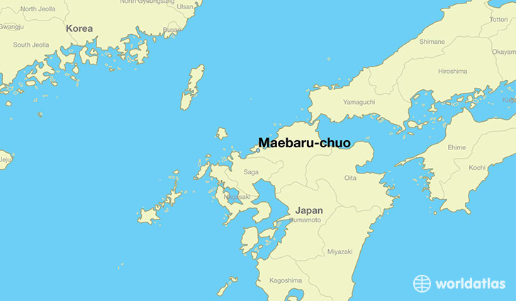 map showing the location of Maebaru-chuo