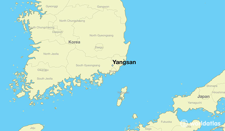map showing the location of Yangsan