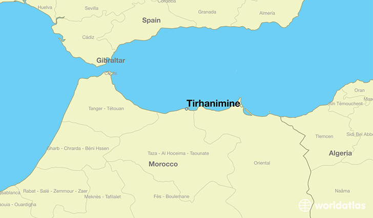 map showing the location of Tirhanimine