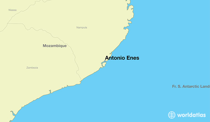map showing the location of Antonio Enes