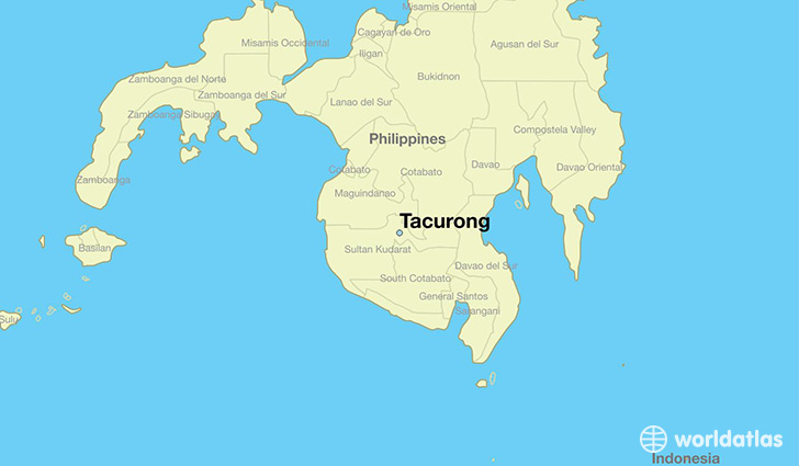 map showing the location of Tacurong