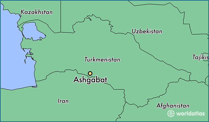 map showing the location of Ashgabat