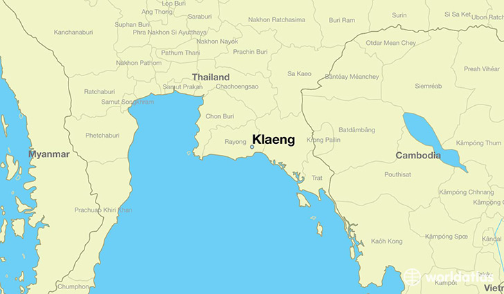 map showing the location of Klaeng