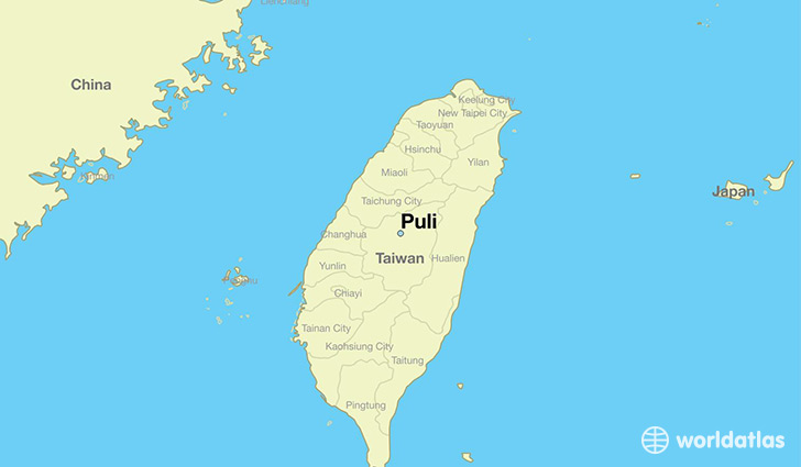 map showing the location of Puli