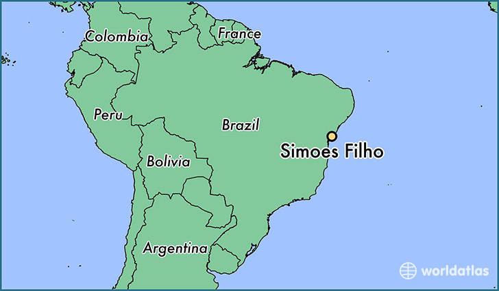 map showing the location of Simoes Filho