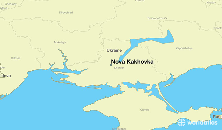 Where is Nova Kakhovka Ukraine Nova Kakhovka Kherson Map