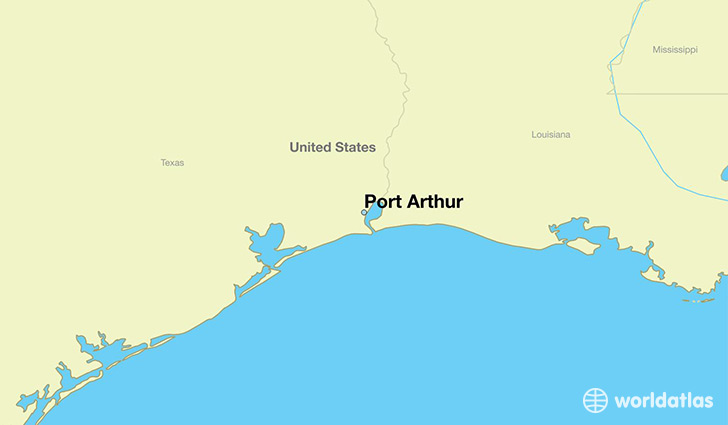 map showing the location of Port Arthur