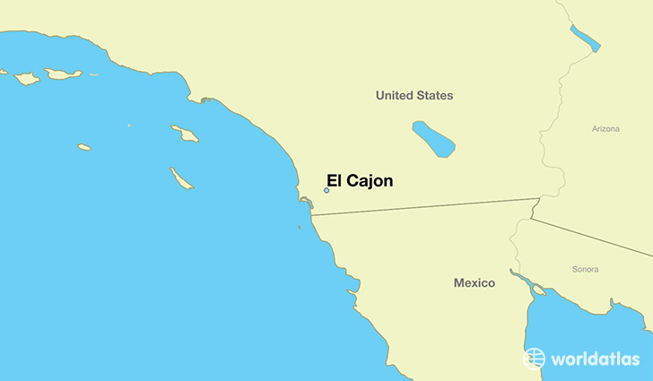 map showing the location of El Cajon