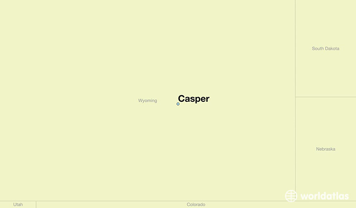 map showing the location of Casper