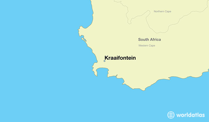map showing the location of Kraaifontein