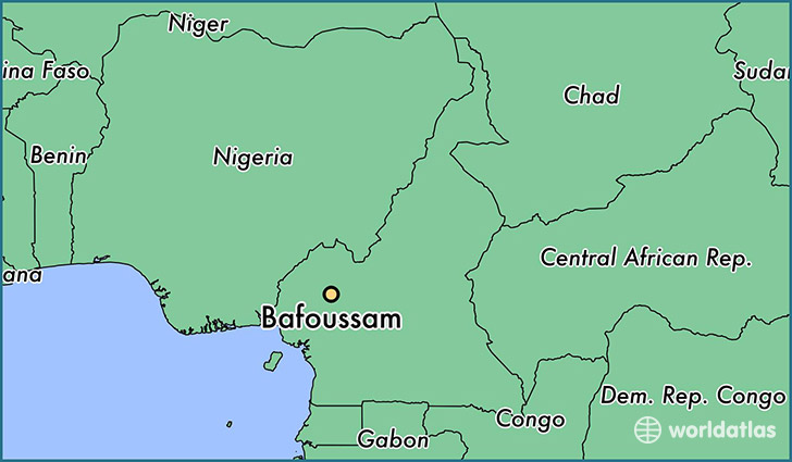 map showing the location of Bafoussam