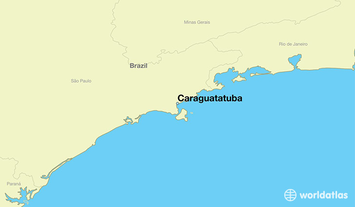 map showing the location of Caraguatatuba